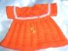 Puppenkleid orange (Gr.48-50)